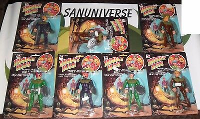 LOT 7 FIGURE VINTAGE 80 BOOTLEG SECTAURS-INSECT MAN masters,galaxy warriors,evil