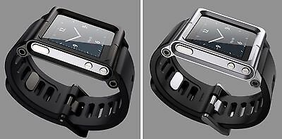 Aluminum Case Cover Watch Strap Band For Apple Ipod Nano 6th Generation Gen