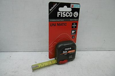 Fisco Made In England Unimatic Um3Me 3M/10' Tape Measure Metric & Imperial