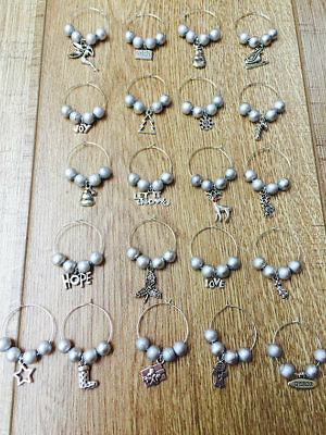 Christmas Wine Glass Charms, Christmas Table Decoration, Lovely Xmas Gift