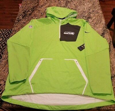 3dedef384 Nike Seattle Seahawks NFL Men s Alpha Fly Rush 1 4 Zip Jacket 746371 308  3XL .