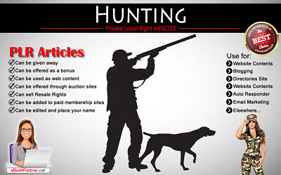 50+ PLR Articles on Hunting Niche Private Label Rights