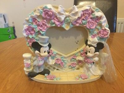 Mickey And Minnie Mouse Wedding Photo Frame Pre Owned Disney