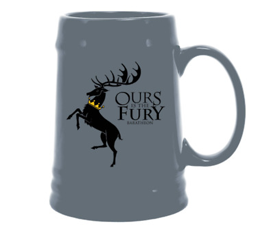 NEW Game of Thrones Ceramic Coffee/Beer Mug Ours is The Fury Drinking Cup Gray