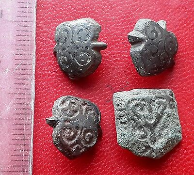 Ancient Viking bronze Belt Decorations of 8-10 century AD