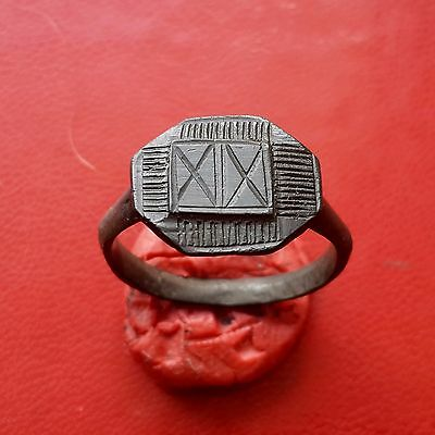 Pretty medieval bronze ring 16-17 century