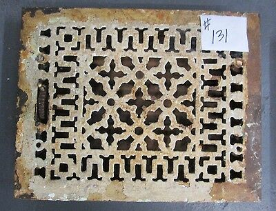 "GREAT ANTIQUE 11"" x 14"" VICTORIAN CAST IRON REGISTER ESTATE # 131 BARGAIN DAYS!"