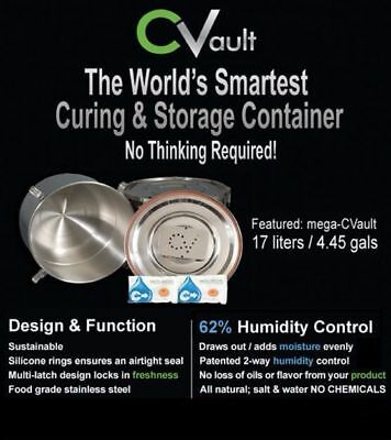 Pick from 8 SZ (1) cVAULT C Vault Airtight Metal Storage Curing Jars Containers