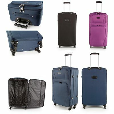 "26"" Medium Strong Super Lightweight 4 Wheel Spinner Suitcase Cases Luggage"