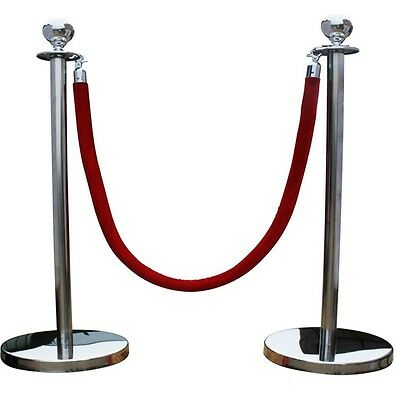 Heavy Duty Polished Stainless Steel Crowd Control Barriers Complete Set  Bar-S