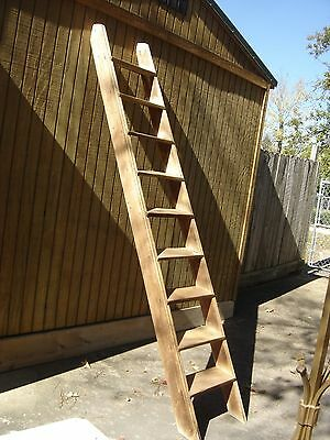 """Antique Pine or Poplar Loft Ladder. It has 9 steps The steps  are 1"""" thick. 7840"""