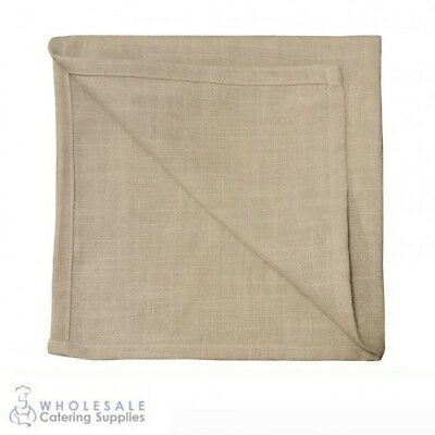 20x Rustic Beige Napkin Serviette, Cafe Restaurant Quality Textured Natural Feel