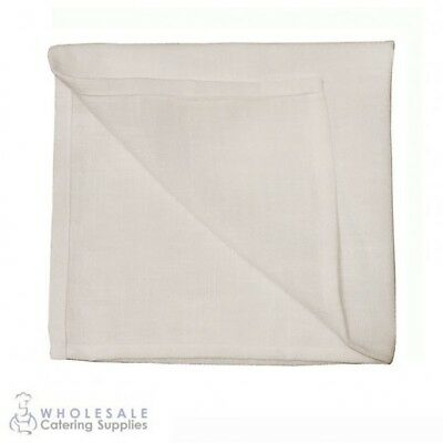 10x Rustic White Napkin Serviette, Cafe Restaurant Quality Textured Natural Feel