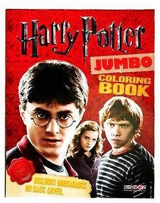 Harry Potter Jumbo Coloring book with three book marks!