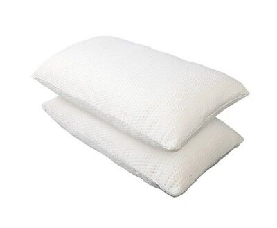 NEW 2x Large Extra High Density 45kg/m3 Memory Foam Pillows, 16 to 19cm Thick