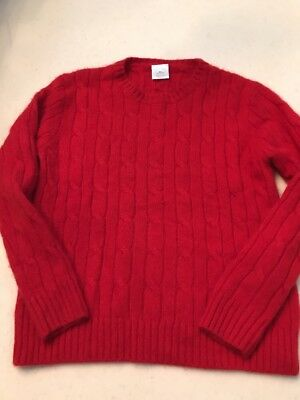 Crewcuts Boys/girls Red Cashmere Cable Knit Pullover Sweater Size 4-5