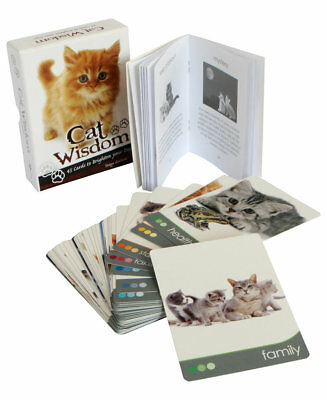 Cat Wisdom Cards And Guidebook By Tanya Graham - Brand New & Sealed