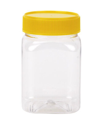 Plastic Honey Jar 500gm Hex Yellow Lid  Food Grade  Carton of 228pcs Jars & Lids