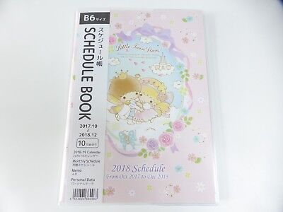 New product!! KAWAII Sanrio Little Twin Stars Schedule book 2018 B6 size cute!!