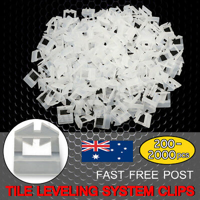 200-2000x Tile Leveling System Kit Clips Levelling Flooring Tiling Spacer Tool