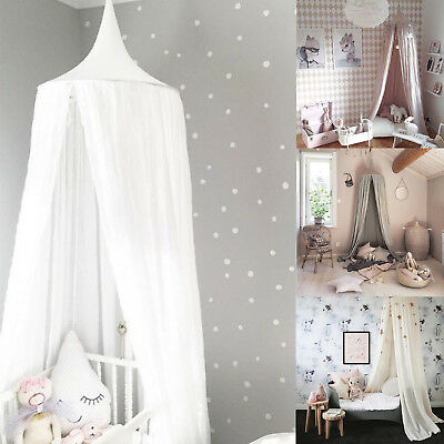 Kids Baby Bed Canopy Bedcover Mosquito Curtain Bedding Dome Tent Cotton