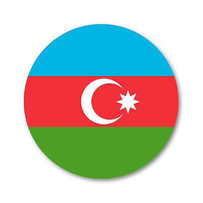 Sticker Azerbaijan Resin Domed Stickers Azerbaijan Flag 3D Vinyl Adhesive Decal