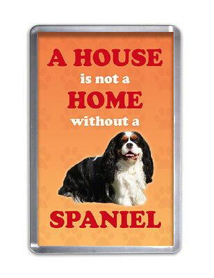 A HOUSE IS NOT A HOME W/O A SPANIEL- Dog Fridge Magnet Pet Animal Novelty Gift
