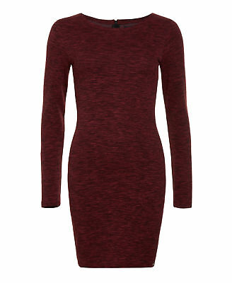 New Womens Superdry Factory Second Augusta Bodycon Dress Rocky Red