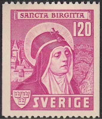 Sweden 1941 120ö Purple 550th Anniversary of Canonisation of St Bridget MH
