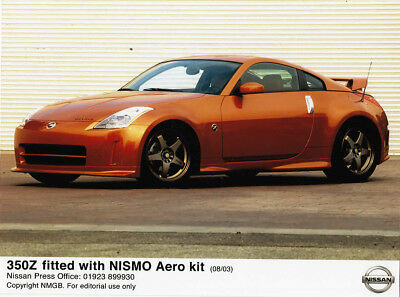 Nissan 350Z Fitted With Nismo Aero Kit (08/03) Period Colour Photograph.