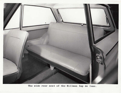 Hillman Imp De Luxe, With Wide Rear Seat Period Photograph.