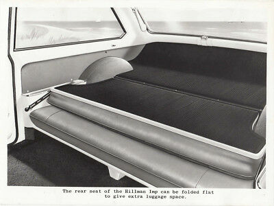 Hillman Imp Rear Seat Folded Flat For Extra Luggage Space Period Photograph.