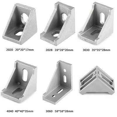 L Shape 90 Degree Grey Aluminum Right Brace Corner Joint Angle Bracket Fastener
