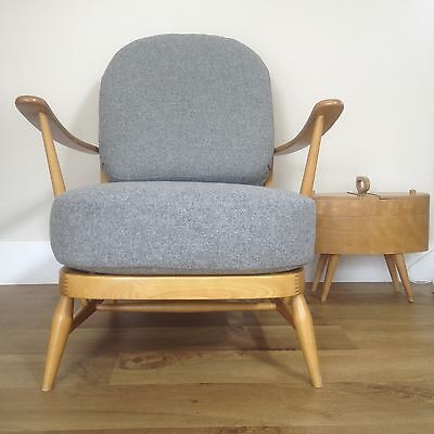 """New Cushions & Covers For An Ercol 203 Armchair In Abraham Moon 'flint"""""""