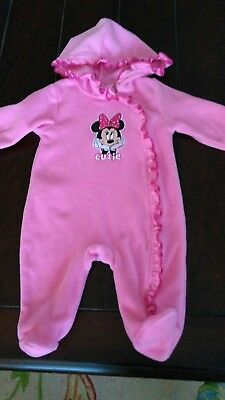 228c0aa2c Baby girl long-sleeved hooded fleece bunting outerwear 6-9 month Minnie  mouse