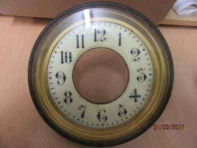 Clock Dial Complete With Bezel And Glass Ideal For Spares