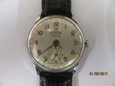 Roamer Calendar Day Date Wrist Watch In Working Order