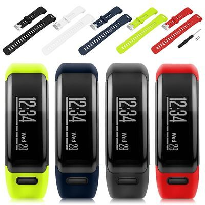 UK Replacement Soft Silicone Bracelet Strap Watch Band for Garmin Vivosmart HR