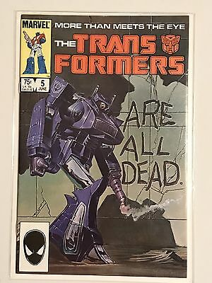 Marvel Comics Hasbro Transformers #5 Original 1st Printing Single Issue Book