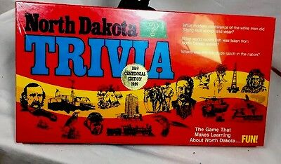 Vintage Sealed NORTH DAKOTA TRIVIA Board Game MIDWEST MARKETING Complete New!