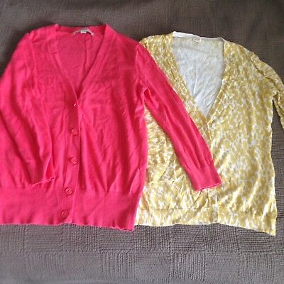 LOFT & J. Crew Lot Of 2 V Neck Cardigans, Small
