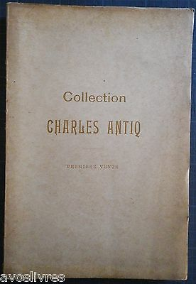 Rare 1895 COLLECTION CHARLES ANTIQ FAÏENCES ANCIENNES Nevers Rouen Sinceny Delft