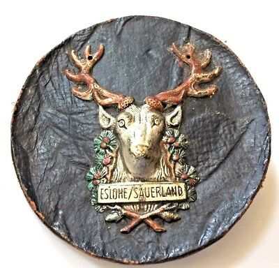 Vintage Large Elk/Stag Button From Eslome, Sauerland