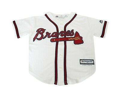 Majestic Genuine Merchandise Big Kids Youth Size Boys Girls Jersey Braves White