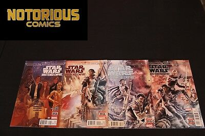 Star Wars Shattered Empire 1-4 Complete Comic Lot Run Set Marvel Collection