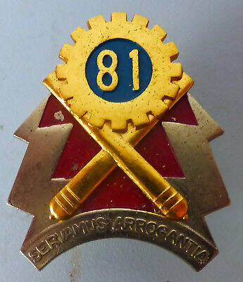 81 Technical Stores Depot South African Army Reme Blitz Cog Scarce Cap Badge