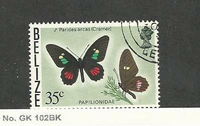 Belize, Postage Stamp, #355A Used, 1977 Butterfly