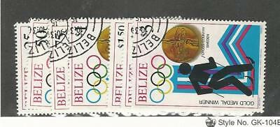 Belize, Postage Stamp, #503-509 Used, 1980 Olympics