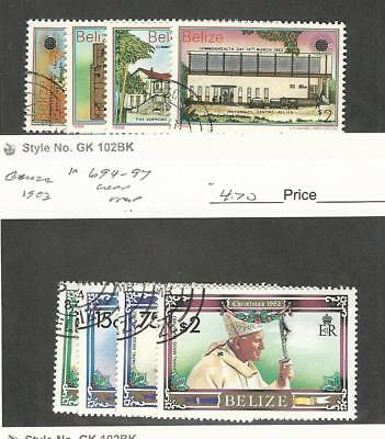 Belize, Postage Stamp, #668-671, 694-697 Used, 1983 Christmas