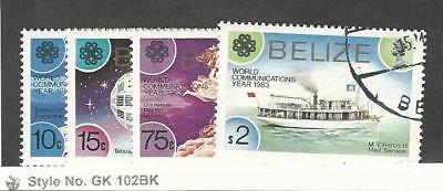 Belize, Postage Stamp, #685-688 Used, 1983 Communications